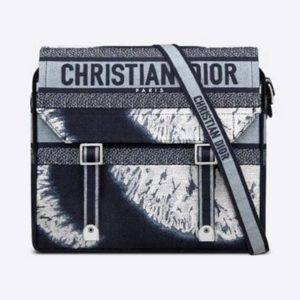 Dior Unisex Diorcamp Bag Blue Multicolor Tie & Dior Embroidery 'Christian Dior'