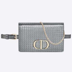 Dior Women 30 Montaigne 2-in-1 Pouch Metallic Stardust Gold Microcannage Calfskin