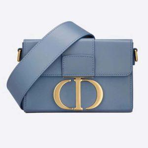 Dior Women 30 Montaigne Box Bag Box Calfskin 'CD' Clasp-Blue