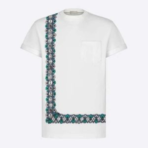 Dior Women Dior And Shawn Oversized T-Shirt White Cotton Jersey