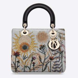 Dior Women Medium Lady Dior Jardin Au Crépuscule Bag Multicolor Calfskin