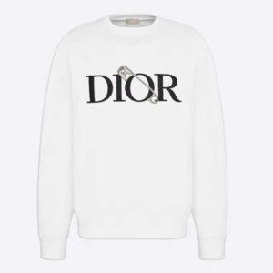 Dior Women Oversized Dior And Judy Blame Sweatshirt Cotton-White