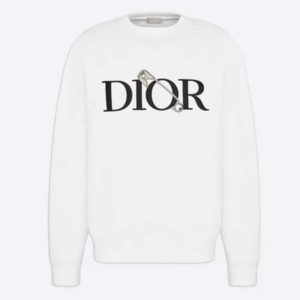Dior Men Oversized Dior And Judy Blame Sweatshirt Cotton-White
