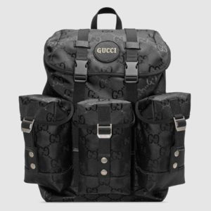 Gucci Unisex Gucci Off The Grid Backpack Black GG Nylon