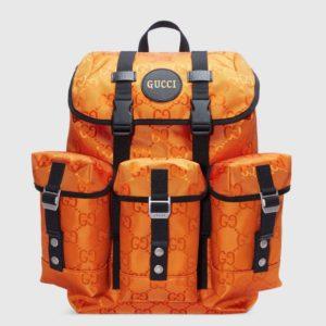 Gucci Unisex Gucci Off The Grid Backpack Orange GG Nylon
