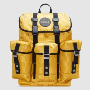 Gucci Unisex Gucci Off The Grid Backpack Yellow GG Nylon