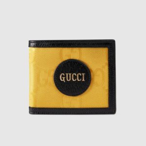 Gucci Unisex Gucci Off The Grid Billfold Wallet GG Nylon-Yellow