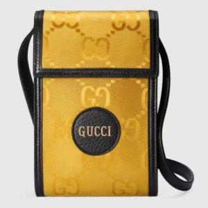 Gucci Unisex Gucci Off The Grid Mini Bag GG Nylon-Yellow