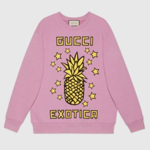 Gucci Women Gucci Pineapple Print Sweatshirt Organic Cotton JerseyGucci Exotica