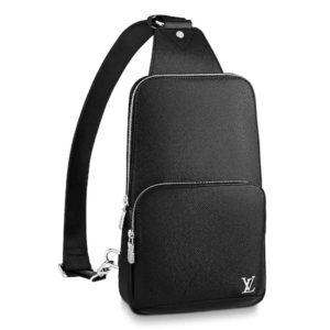 Louis Vuitton LV Men Avenue Sling Bag Taiga Leather-Black