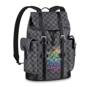 Louis Vuitton LV Unisex Christopher PM Backpack Damier Graphite Coated Canvas