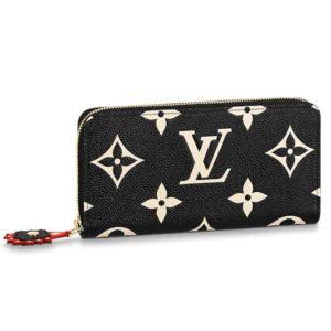 Louis Vuitton LV Unisex Crafty Zippy Wallet Monogram Empreinte Cowhide Leather
