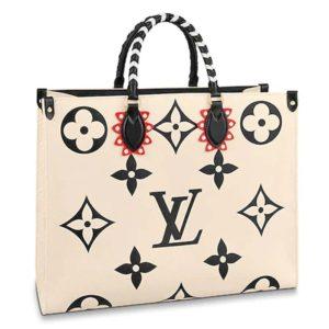 Louis Vuitton LV Women LV Crafty OnTheGo GM Tote Bag-Beige