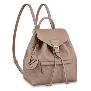 Louis Vuitton LV Women Montsouris Backpack Monogram Empreinte Embossed Leather
