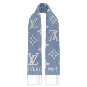 Louis Vuitton LV Unisex Studdy Reykjavik Scarf with Monogram Print and LV Initials M76076