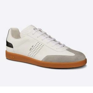 Dior Unisex B01 Sneaker White Smooth Calfskin with Beige Suede