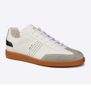 Dior Unisex B01 Sneaker White Smooth Calfskin with Beige Suede