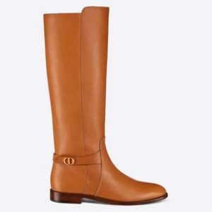 Dior Women Dior Empreinte Boot 'CD' Signature Ochre Soft Calfskin
