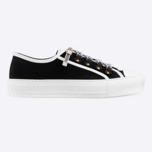 Dior Women Walk'n'Dior Sneaker Black Canvas Christian Dior 'J'Adior' Signature