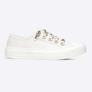 Dior Women Walk'n'Dior Sneaker White Canvas Christian Dior 'J'Adior' Signature