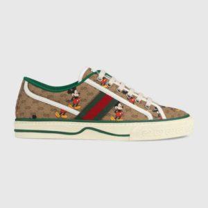Gucci GG Unisex Disney x Gucci Tennis 1977 Sneaker Web GG Canvas Mickey Mouse