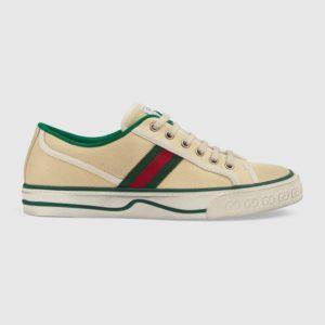Gucci GG Unisex Gucci Tennis 1977 Sneaker Green Red Web Butter Cotton