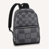 Louis Vuitton LV Unisex Campus Backpack Gray Damier Graphite 3D Coated Canvas