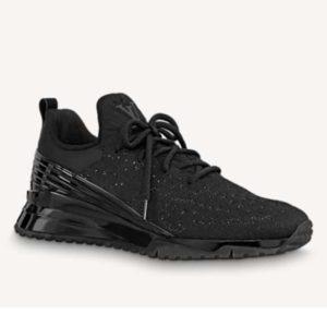 Louis Vuitton Unisex V.N.R (Vuitton New Runner) Sneaker Technical Knit-Black