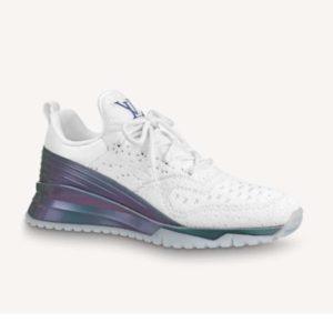 Louis Vuitton Unisex V.N.R (Vuitton New Runner) Sneaker Technical Knit-White