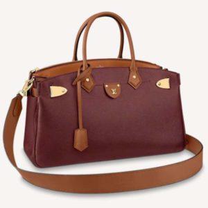 Louis Vuitton Women All Set Handbag Calfskin Cowhide Leather Body-Friendly-Red