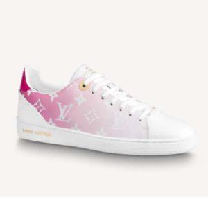 Louis Vuitton Women Frontrow Sneaker Calf Leather Monogram Canvas Louis Vuitton Signature