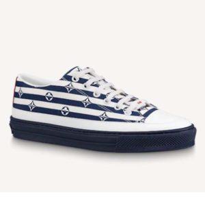 Louis Vuitton Women LV Escale Stellar Sneaker Cotton Canvas Monogram Flowers-Blue