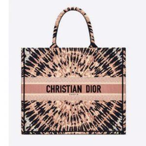 Dior Women Dior Book Tote Multicolor Tie & Dior Embroidery
