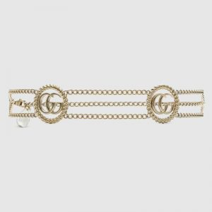 Gucci GG Women Chain Belt with Torchon Double G 1.5 cm Width