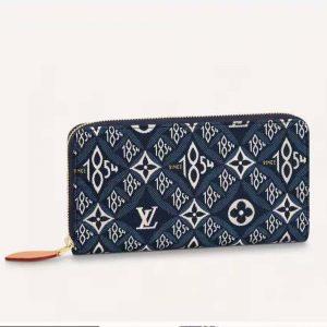 Louis Vuitton LV Women Since 1854 Zippy Wallet Monogram Flowers-Blue