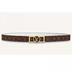 Louis Vuitton Unisex Dauphine 25mm Reversible Belt Monogram Canvas Calf-White