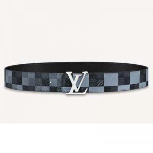 Louis Vuitton Unisex LV Initiales 40 mm Reversible Belt Damier Graphite Canvas Calf-Grey