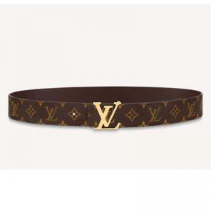Louis Vuitton Unisex LV Initiales 40mm Reversible Belt Monogram Canvas-Brown