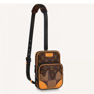 Louis Vuitton LV Unisex Amazone Sling Bag Giant Damier Ebene Monogram Coated Canvas