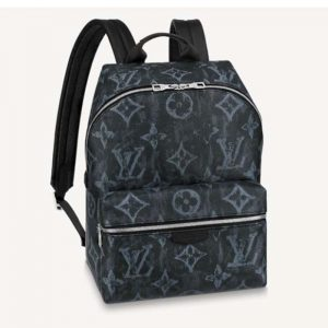 Louis Vuitton LV Unisex Discovery Backpack PM Monogram Pastel Noir Coated Canvas