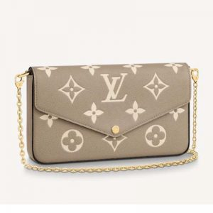 Louis Vuitton LV Unisex Félicie Pochette Monogram Empreinte Embossed Supple Grained Cowhide-Sandy