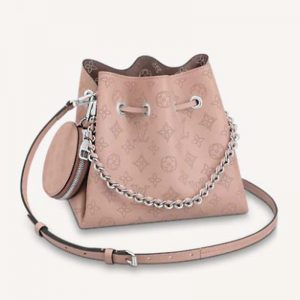 Louis Vuitton LV Women Bella Bucket Bag in Mahina Calf Leather Monogram-Pink