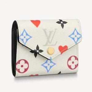 Louis Vuitton LV Women Game On Zoé Wallet Monogram Canvas Cowhide-Leather