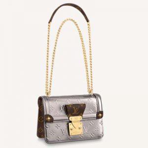 Louis Vuitton LV Women LV Wynwood Chain Bag Taupe Monogram Canvas Vernis Leather