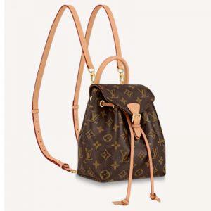 Louis Vuitton LV Women Montsouris BB Backpack Monogram Canvas Cowhide Leather