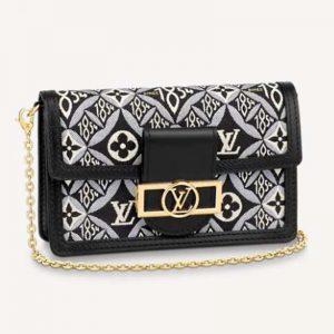 Louis Vuitton LV Women Since 1854 Dauphine Chain Wallet Monogram Flowers Cowhide-Leather
