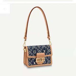 Louis Vuitton LV Women Since 1854 Dauphine MM Handbag Monogram Flowers Canvas