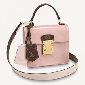Louis Vuitton LV Women Spring Street in Monogram Canvas Vernis Patent Epi Leather
