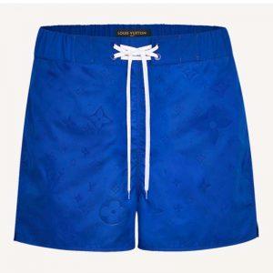 Louis Vuitton Men 3D Pocket Monogram Board Shorts Polyester Blue