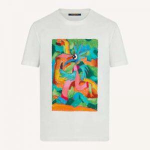 Louis Vuitton Men LV Men T-shirt Slightly Loose Fit Cotton-White